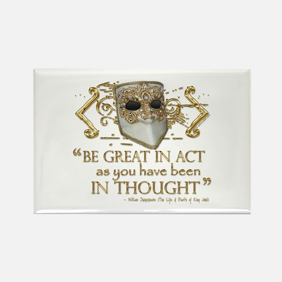 Shakespeare Great In Thought Quote Rectangle Magne