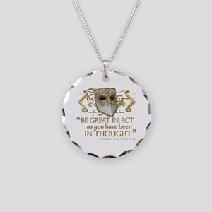 Shakespeare Great In Thought Quote Necklace Circle