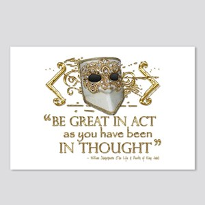 Shakespeare Great In Thought Quote Postcards (Pack