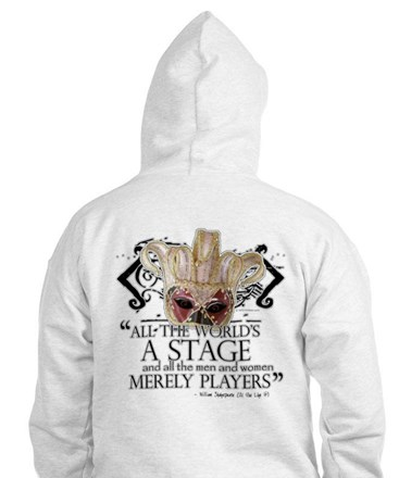 Shakespeare Fools Quote Jumper Hoody