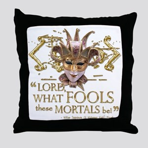 Shakespeare Fools Quote Throw Pillow