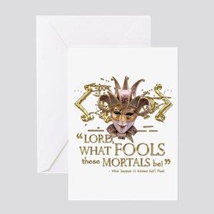 Shakespeare Fools Quote Greeting Card