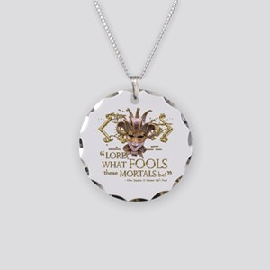 Shakespeare Fools Quote Necklace Circle Charm