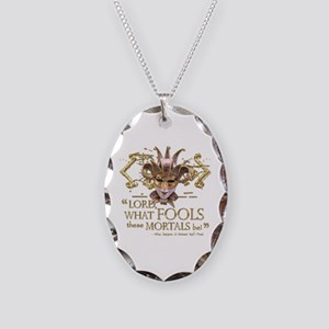 Shakespeare Fools Quote Necklace Oval Charm