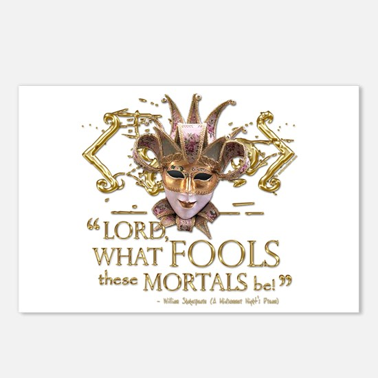 Shakespeare Fools Quote Postcards (Package of 8)