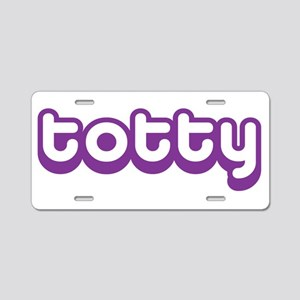 Totty Aluminum License Plate