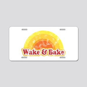 Wake and Bake Aluminum License Plate