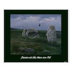 Raven at the Men-an-Tol Poster