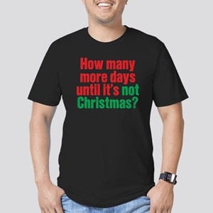 Not Christmas Men's Fitted T-Shirt (dark)