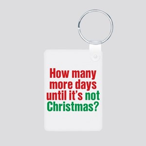 Not Christmas Aluminum Photo Keychain