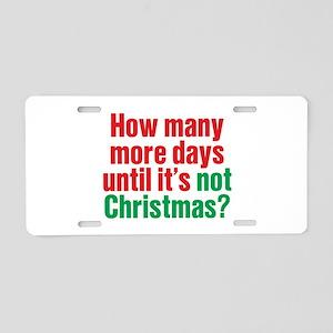 Not Christmas Aluminum License Plate