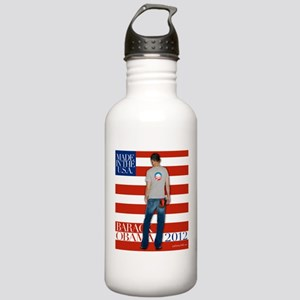 Obama for president 2012 Stainless Water Bottle 1.