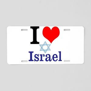I love Israel Aluminum License Plate