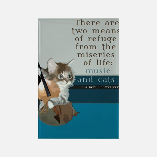 Cats and Music Rectangle Magnet