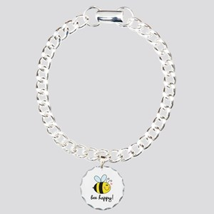 Bee Happy Charm Bracelet, One Charm
