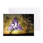31 Year Birthday Greeting Card - One Day at a Time