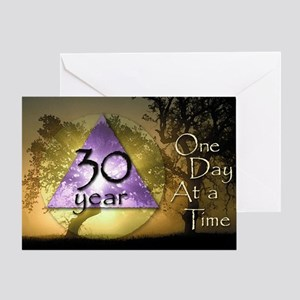 30 Year Birthday Greeting Card One Day at a Time