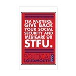 """Sticker - """"Give back your Social Security or"""