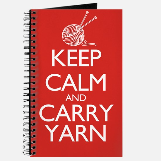 Keep Calm and Carry Yarn Journal