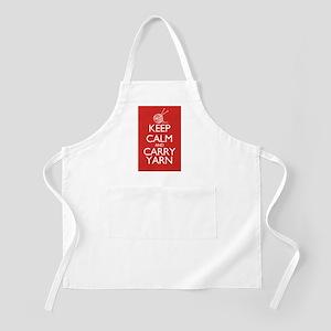 Keep Calm and Carry Yarn Apron