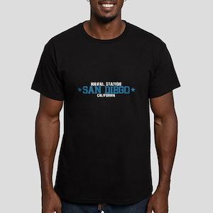 Naval Station San Diego Men's Fitted T-Shirt (dark