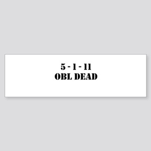 5-1-11 OBL DEAD Sticker (Bumper)