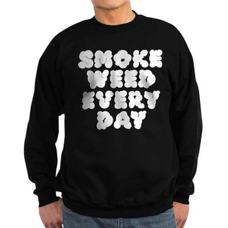 Smoke Weed Everyday - Cloudy Sweatshirt (dark)