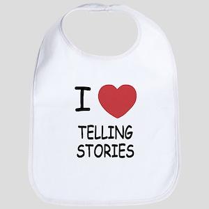 i heart telling stories Bib