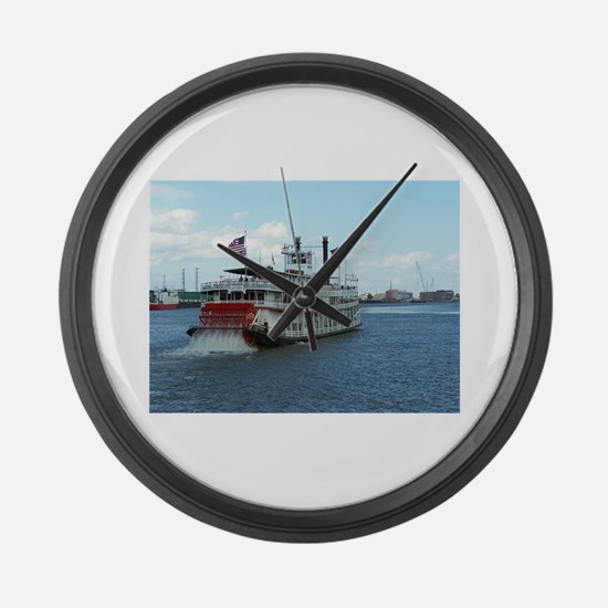 Mississippi Riverboat Large Wall Clock