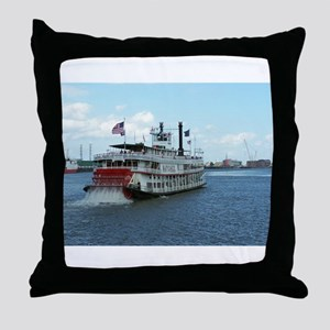 Mississippi Riverboat Throw Pillow