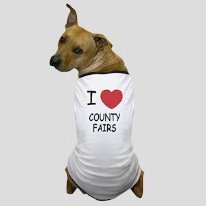 i heart county fairs Dog T-Shirt