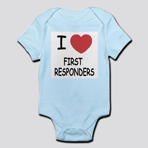 i heart first responders Infant Bodysuit