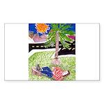 Reclining in Palms Park Sticker (Rectangle 50 pk)