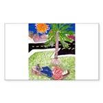 Reclining in Palms Park Sticker (Rectangle)