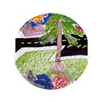 """Reclining in Palms Park 3.5"""" Button"""