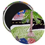 """Reclining in Palms Park 2.25"""" Magnet (100 pack)"""