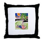 Reclining in Palms Park Throw Pillow