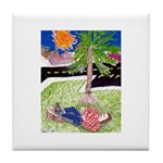 Reclining in Palms Park Tile Coaster