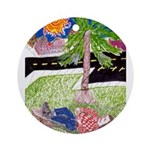 Reclining in Palms Park Ornament (Round)
