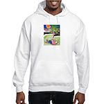 Reclining in Palms Park Hooded Sweatshirt