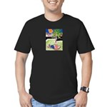 Reclining in Palms Park Men's Fitted T-Shirt (dark