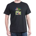 Reclining in Palms Park Dark T-Shirt