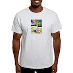 Reclining in Palms Park Light T-Shirt