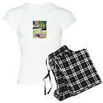 Reclining in Palms Park Women's Light Pajamas