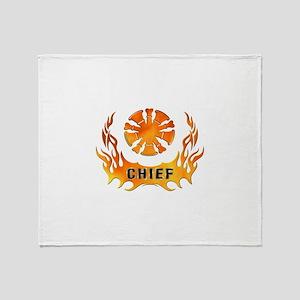 Fire Chiefs Flame Tattoo Throw Blanket