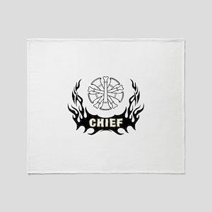 Fire Chief Tattoo Throw Blanket