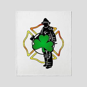 Irish Fire Symbols Throw Blanket