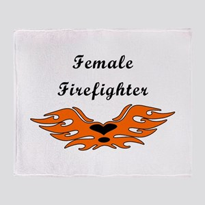 Female Firefighters Throw Blanket