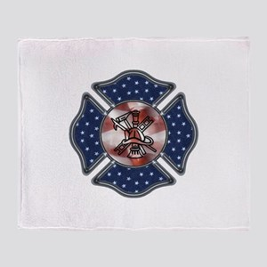 Firefighter USA Throw Blanket