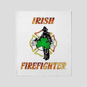 Irish Firefighter Throw Blanket